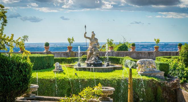 The Rometta Fountain in Villa d'Este, Tivoli, Lazio, central Italy.