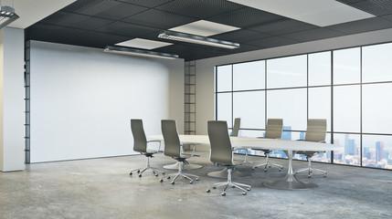 Modern boardroom side