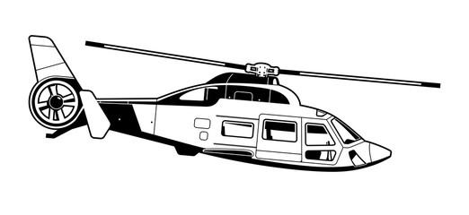 illustration of passenger helicopter