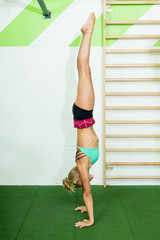 Fit woman doing gym. healthy lifestyle concept.Healthy and active girl concept, vertical, copy space