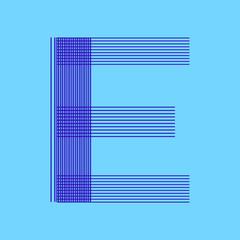 Letter E Logo Luxury design vector template Linear. Type Character Symbol Logotype