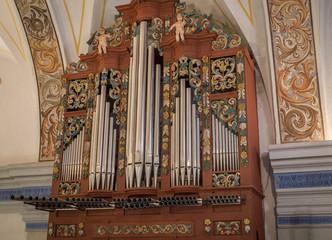 church pipe organ, musical instrument XVIII century