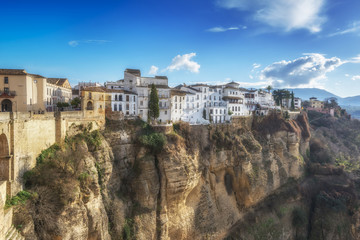 Ancient town of Ronda. Malaga province, Andalusia, Spain