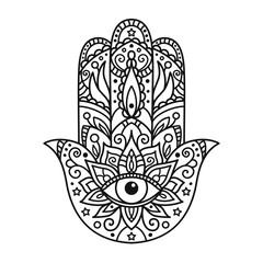 coloring with hamsa