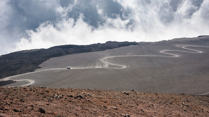 Road on the Mount Etna