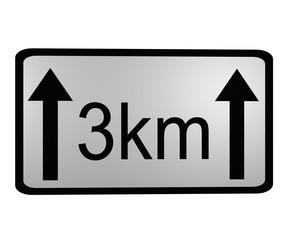 Verkehrszeichen: Länge der Gefahrenstelle