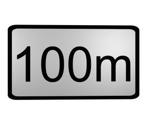 Traffic sign: Entfernung zur Arbeitsstelle