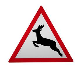 Verkehrszeichen: Wildwechsel