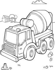 Construction Truck Vector Illustration Art