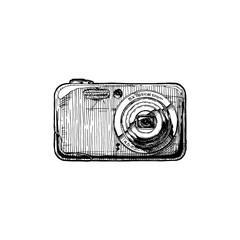 illustration of digital compact camera
