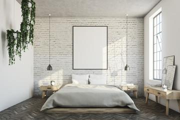 White brick bedroom, poster
