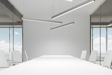 White meeting room interior