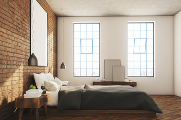 Brick bedroom, poster, side