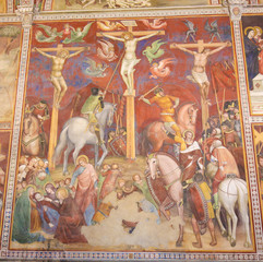 Fresco in San Gimignano - The Crucifixion
