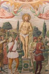 Fresco in San Gimignano - Martyrdom of St Sebastian