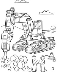 Bulldozer Construction Vector Illustration Art