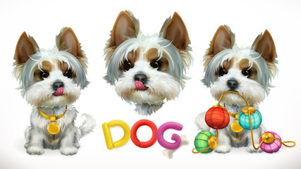 Dog, animal in the Chinese zodiac, Chinese calendar. 3d vector icon