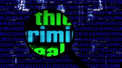 Wall Mural - Searching for criminal online