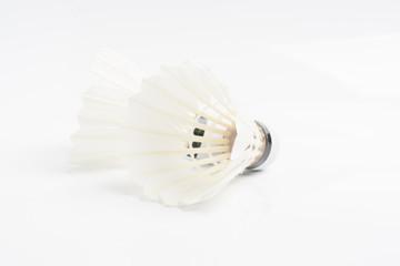 Shuttlecock on white