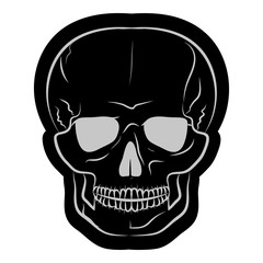 image of a black human skull. vector illustration