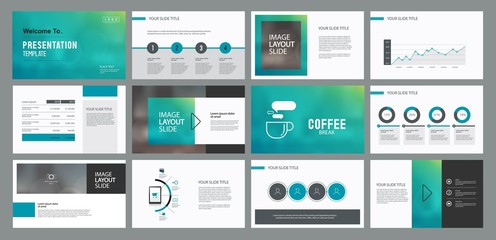 abstract business presentation template design and page layout design for brochure ,book , magazine,annual report and company profile , with infographic elements graph