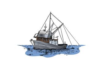 Trawler at the sea