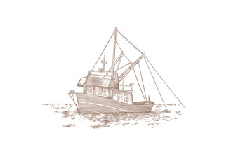 Trawler at the sea