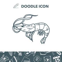 Shrimp doodle