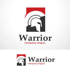 Warrior Logo Template Design Vector, Emblem, Design Concept, Creative Symbol, Icon