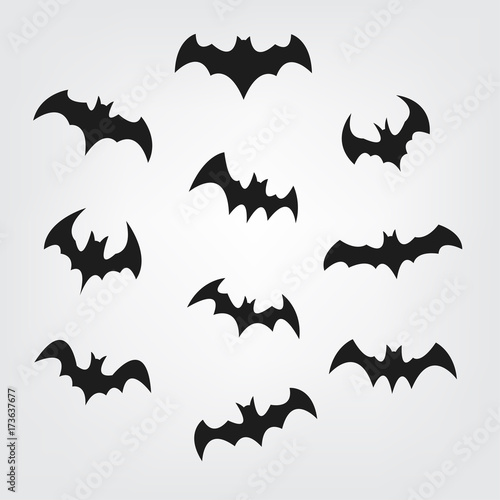 picture relating to Bats Printable referred to as Traveling bats fastened for Halloween. Bat Black silhouette