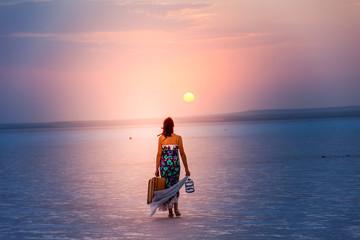 young girl on holiday