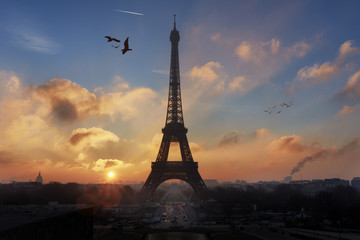 Parisian Landscape at Sunrise