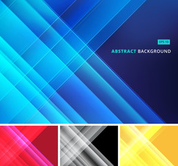 Group abstract image that depicts technology with overlapping diagonal lines. Vector