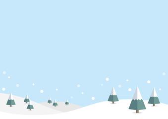 冬の背景:雪景色