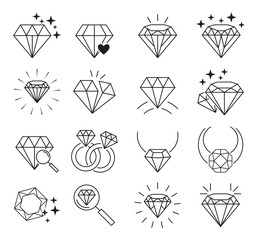 Diamonds icon set