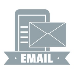 Email logo, simple gray style
