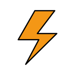 ray electric isolated icon