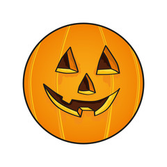 Halloween Face Pumpkin vector illustration