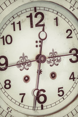 Close up of a ornamental antique clock