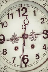 Close up of a ornamental antique clock