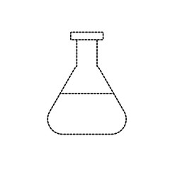 dotted shape erlenmeyer flask to lab chemical design
