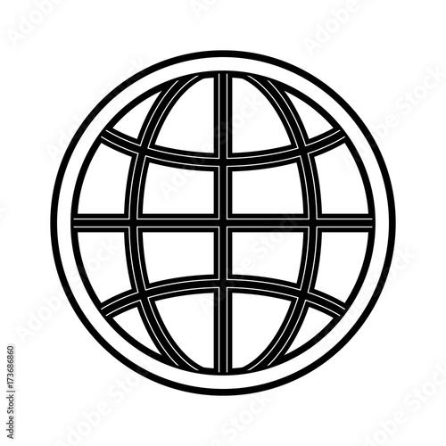 earth globe diagram icon image vector illustration design stock Network Diagram Symbols earth globe diagram icon image vector illustration design