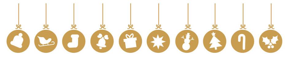 Weihnachtsschmuck Weihnachtskugeln Gold
