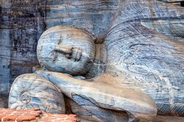 The reclining image of Buddha in Gal Vihara
