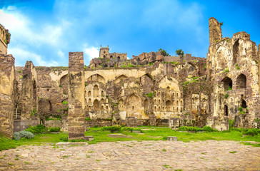 Indside of the Golconda fort in Hyderabad India Fototapete