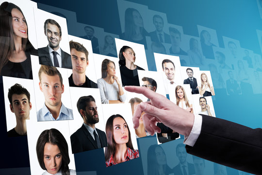 Social media and recruiting concept