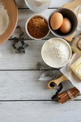 White wood baking background