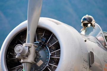 Fontale di aereo a elica