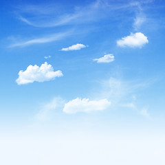 Blue sky and  white cloudy