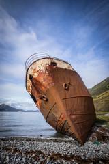Printed roller blinds Shipwreck ship wreck, Morzhovaya Bay, Russia